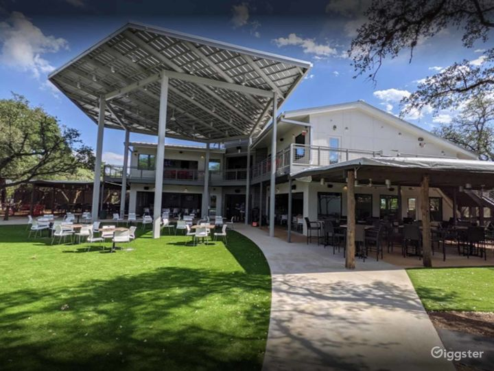Outdoor features including stunning landscaping, gorgeous water features, outdoor bar, fire pits, and relaxing lounge seating areas Two green rooms for talent preparation