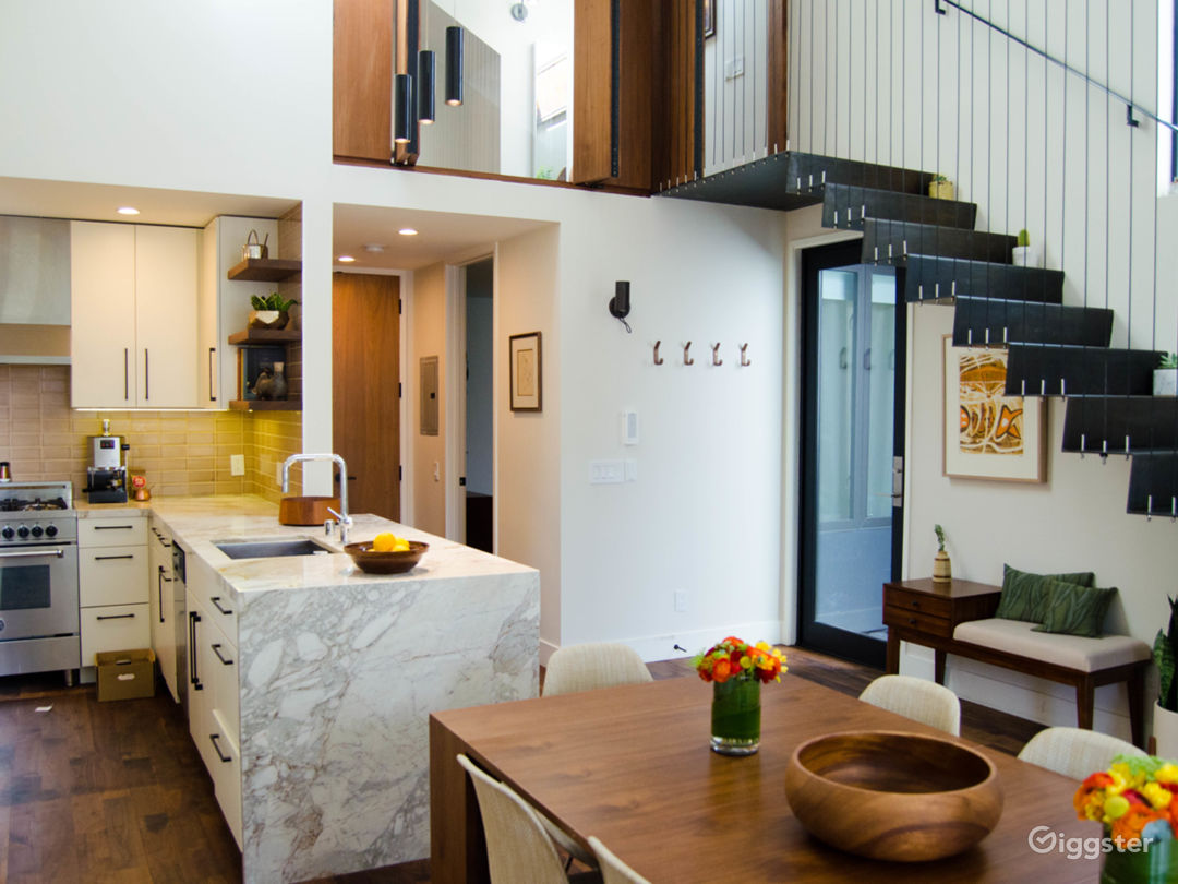 Soaring high ceilings and an open floor plan