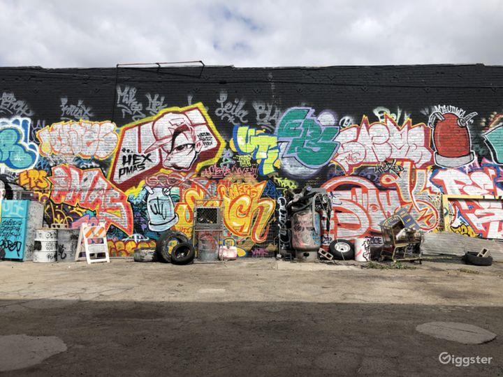 Graffiti + Urban Industrial Walls for Filming