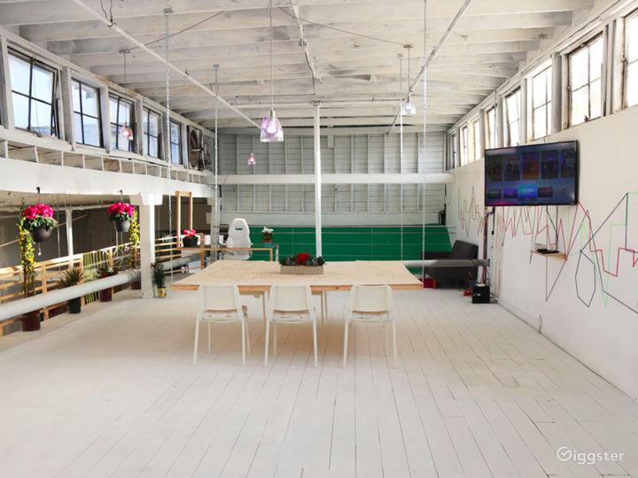 White Designer Split Level Studio W/ Natural Light