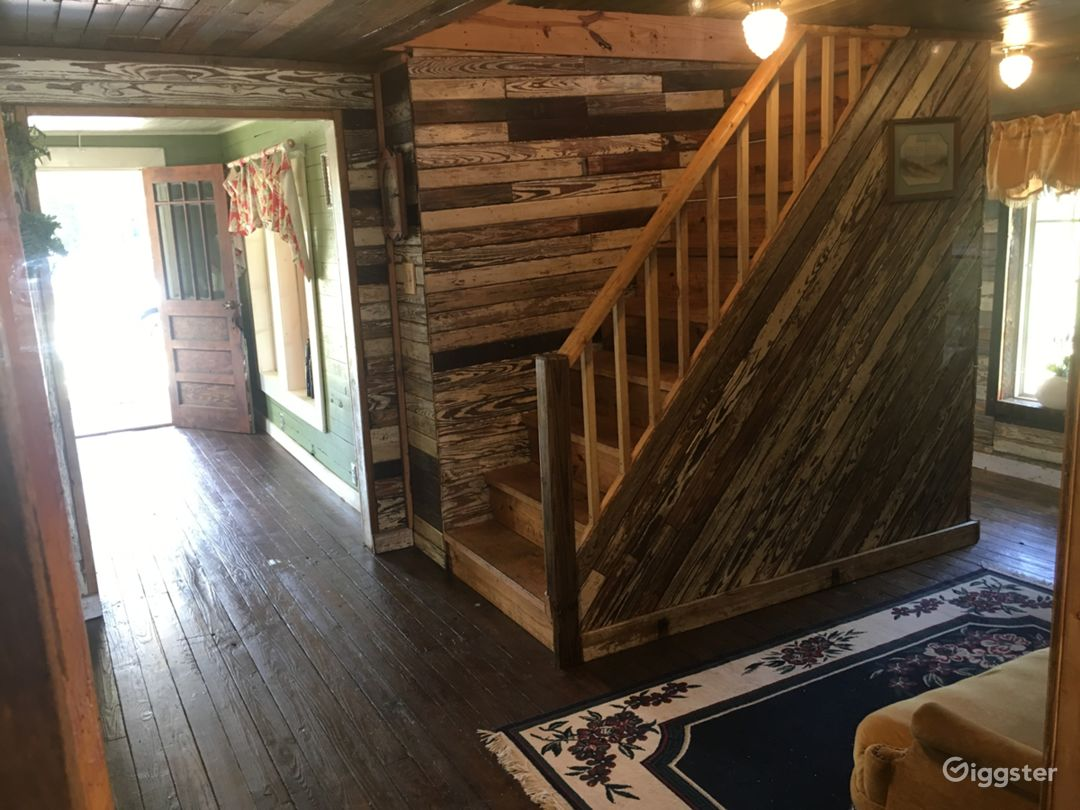 Take a step back in time inside Tressie's the century old farmhouse with hard pine floors, walls and ceilings... fully functional with a kitchen, two restrooms and a porch.