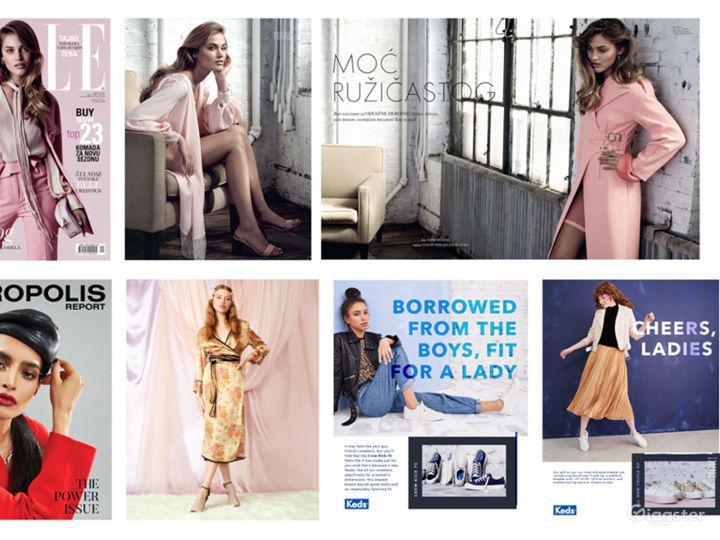 Various fashion work shot here