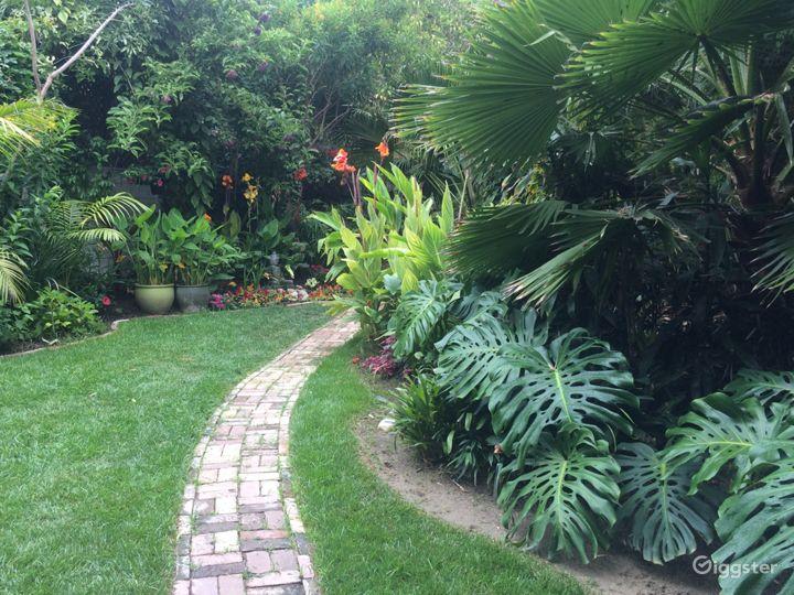 Garden is lush all year