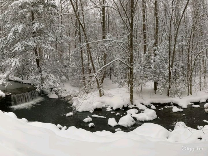 Backyard Waterfall, Winter