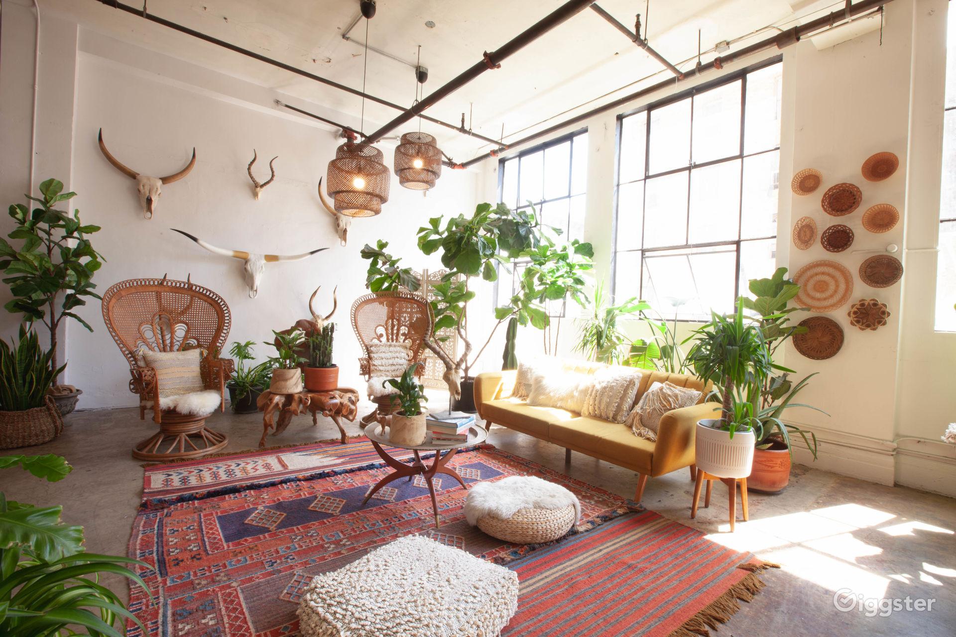 Bohemian Downtown Studio w/ Huge Windows and City View Los Angeles Rental