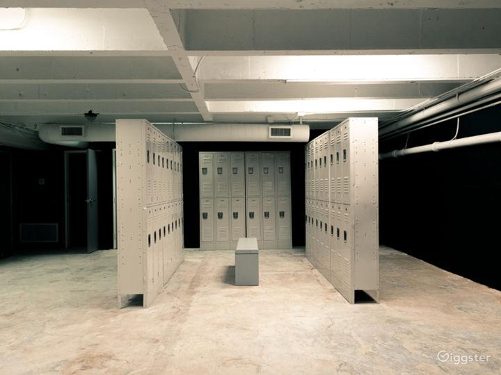 Locker room scene without tube lights.