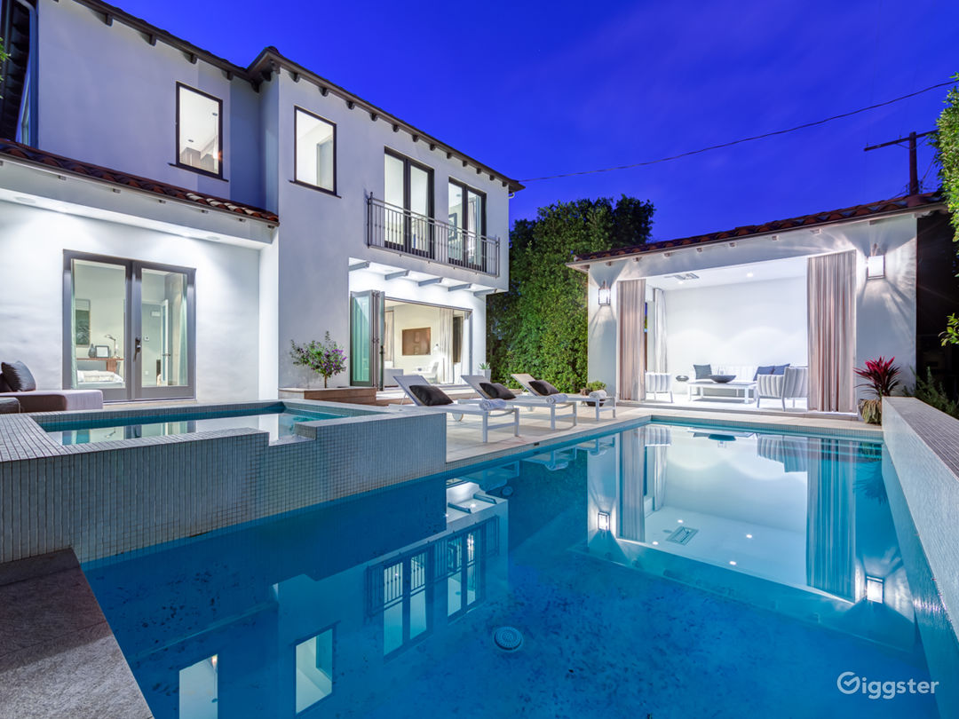West Hollywood Mediterranean home with cabana  Photo 1