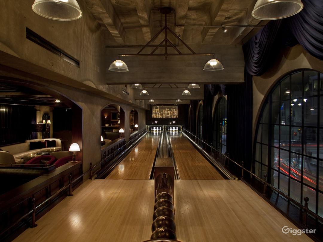 Vintage, restored bowling lanes