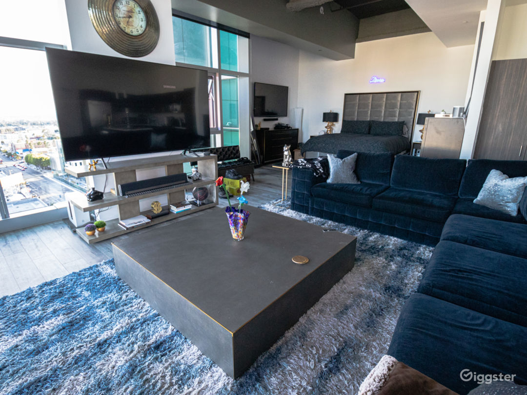 Large open loft with high-end furniture and A/V equip. Luxury Sofa Seating for 8