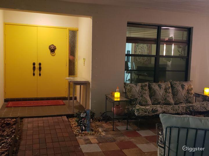 Double doors leading into house