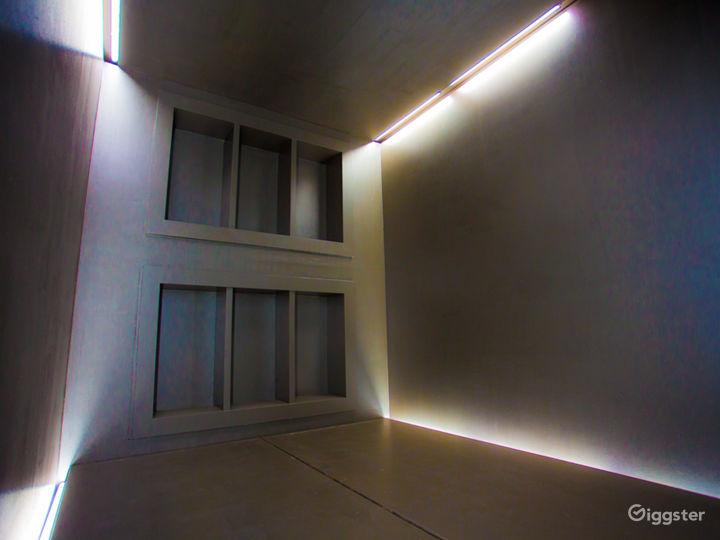 Futuristic Dark Silver Cube Photo 3