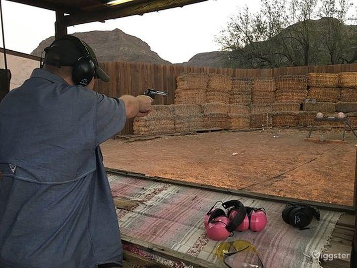 Wild West pistol target shooting range Photo 2