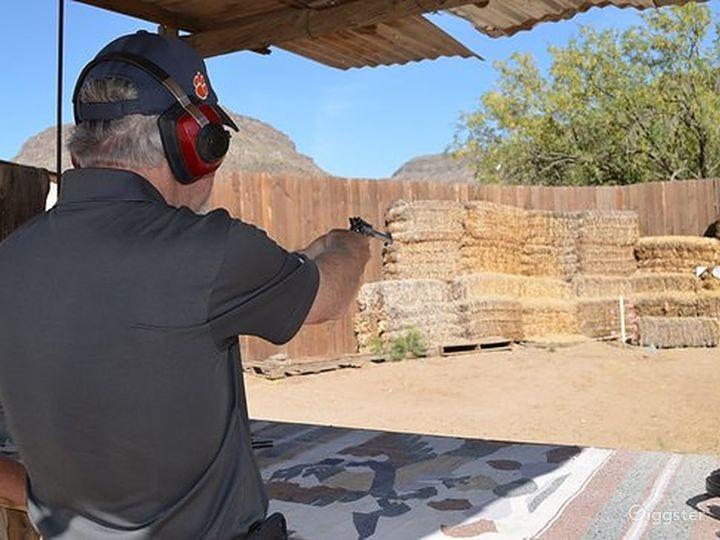 Wild West pistol target shooting range Photo 4