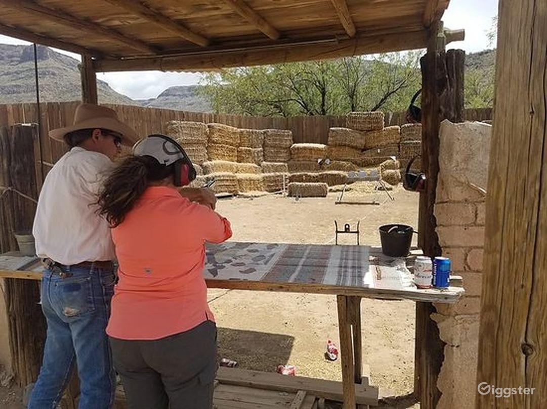 Wild West pistol target shooting range Photo 1