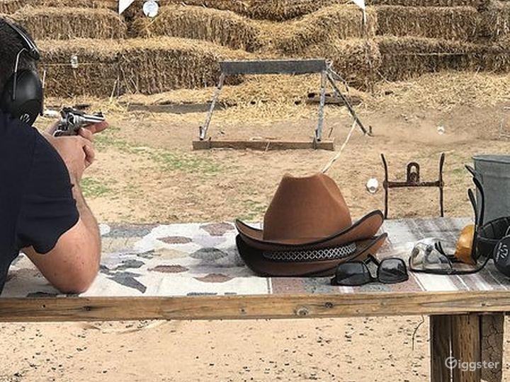 Wild West pistol target shooting range Photo 3