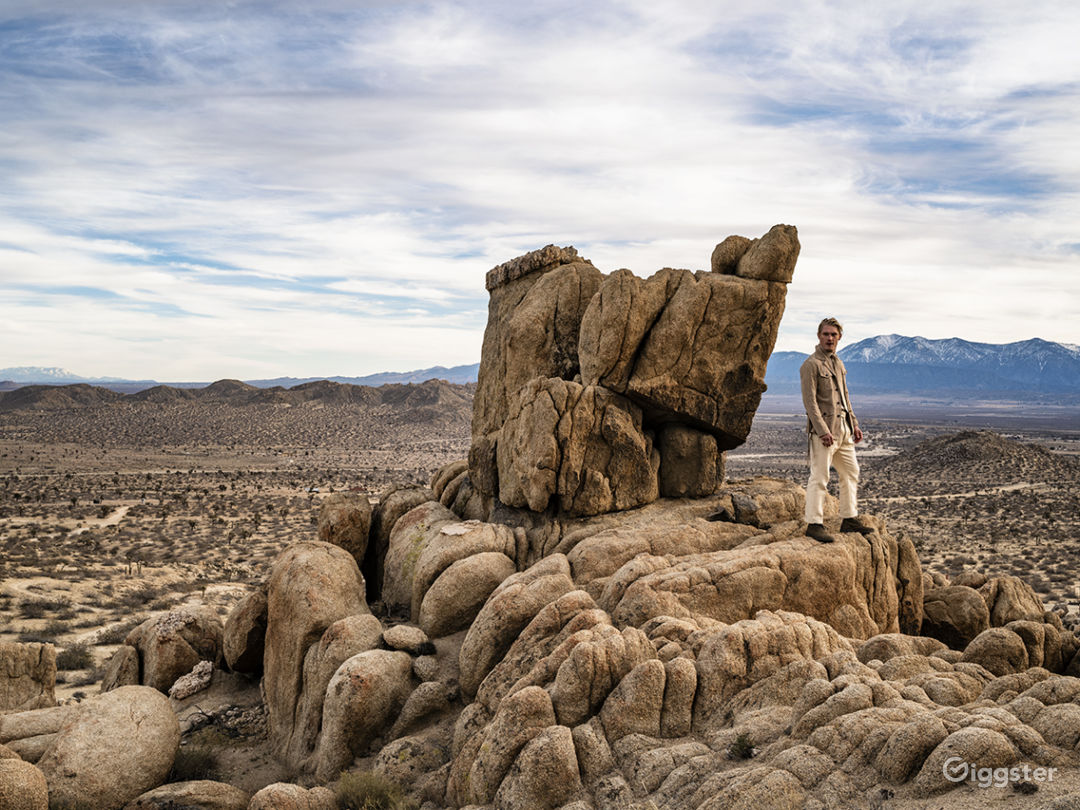 Desert and Boulders Photo 1