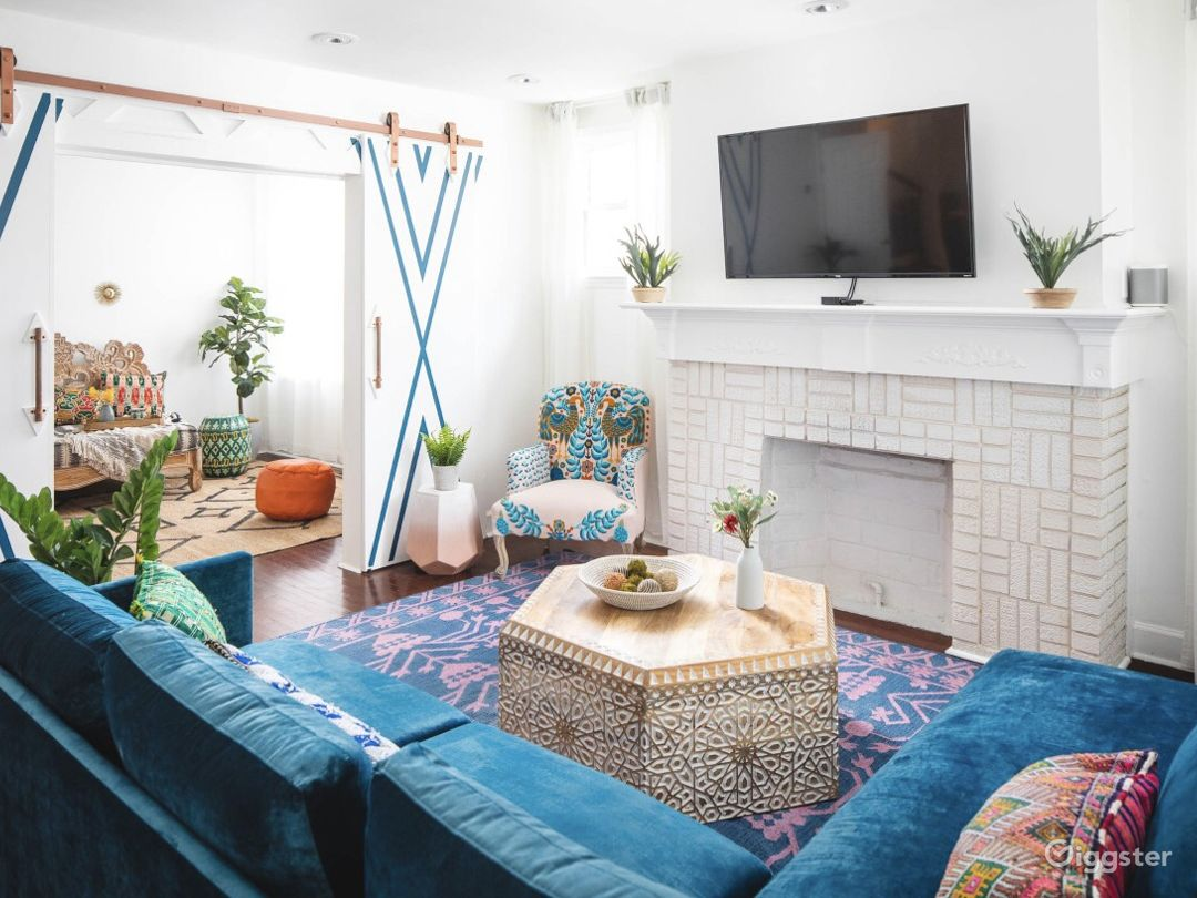Downtown Home Drenched in Boho Drama Photo 1