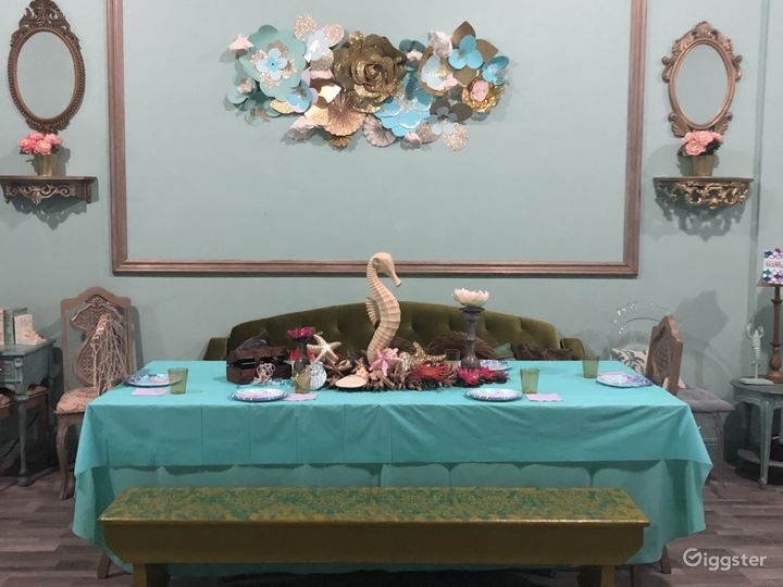 Whimsical Tea Room/Event Room in historical area.  Photo 3