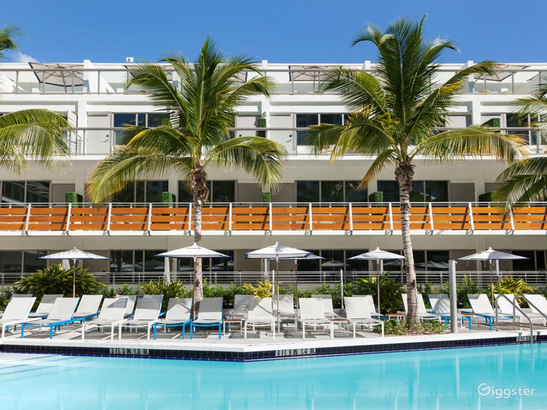 Swanky Miami Pool Deck Photo 1