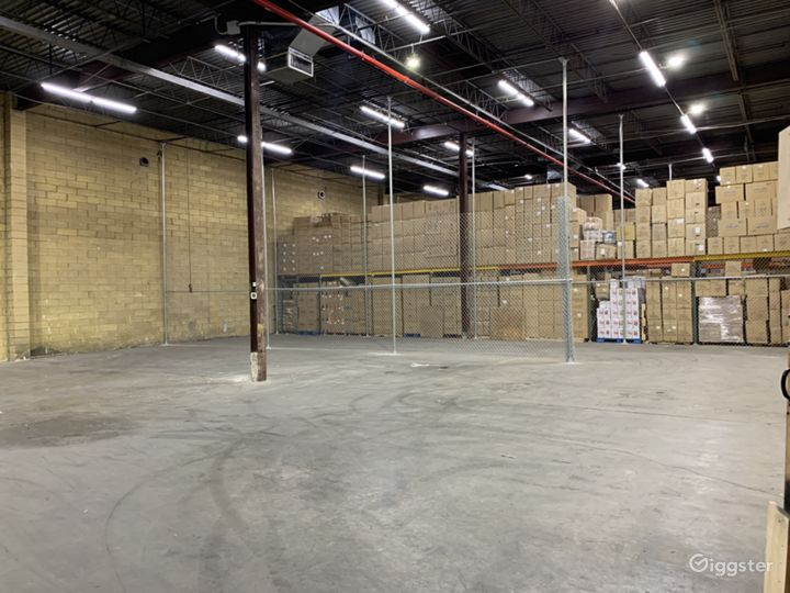 Enclosed warehouse space