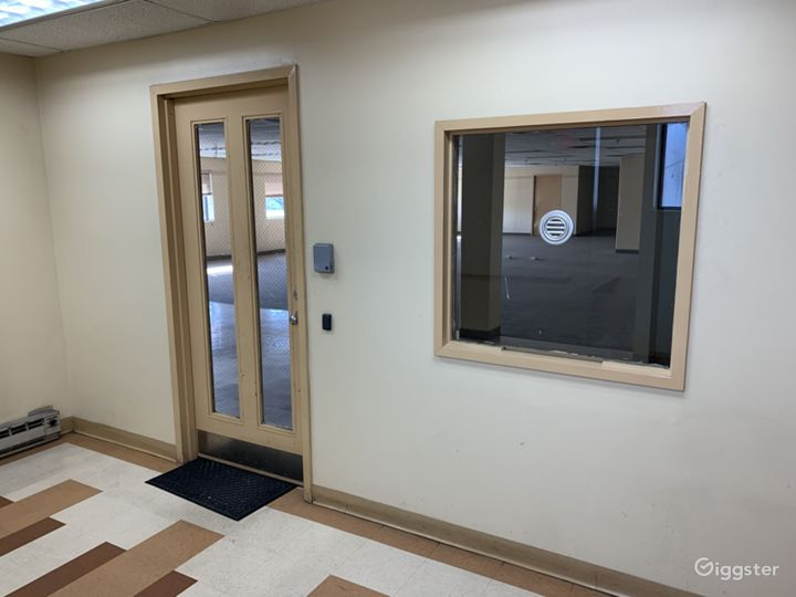 Entrance to upstairs office