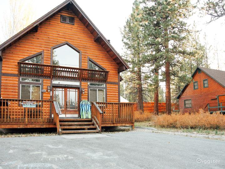 Log Cabin, Alpine Mountain Lake Chalet, Big Bear