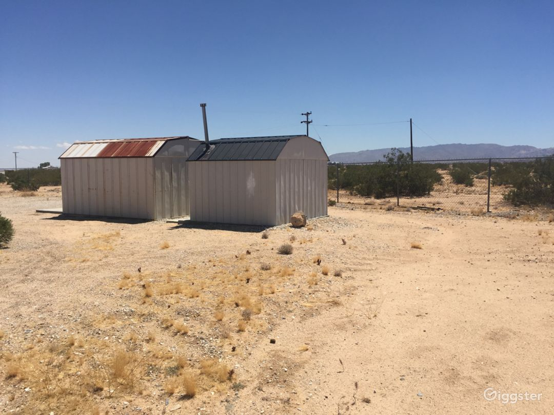 Empty storage sheds 1 with shower