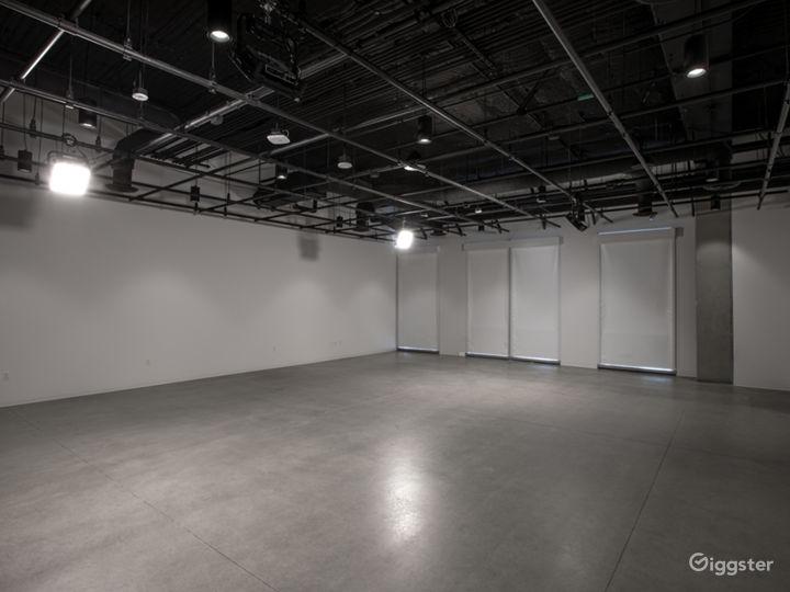 Full lighting grid in both studios