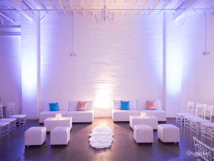 The Space HTX: White-on-White Industrial Warehouse Photo 4