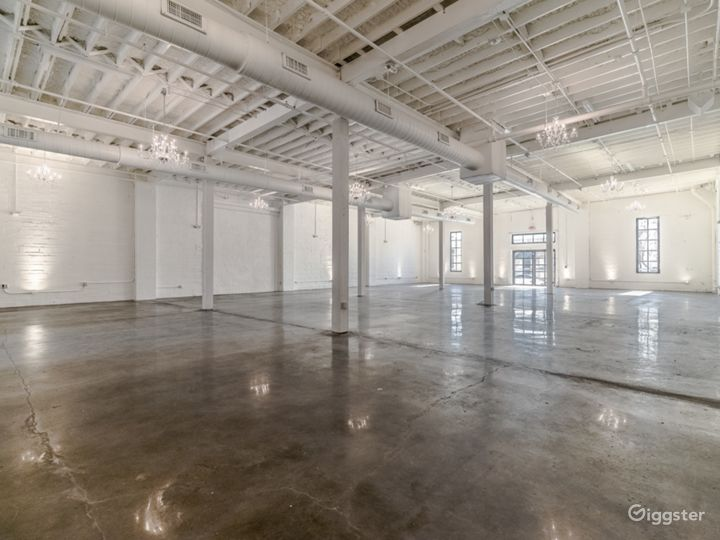 The Space HTX: White-on-White Industrial Warehouse Photo 2