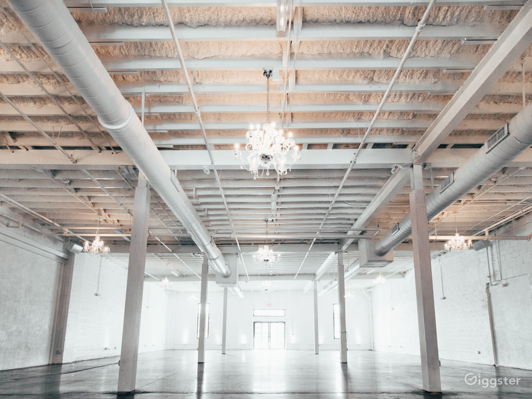 The Space HTX: White-on-White Industrial Warehouse Photo 1