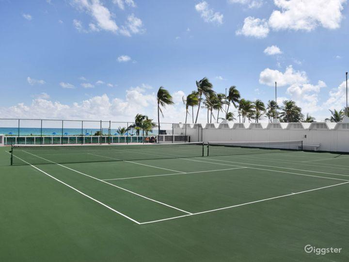 Oceanfront Tennis Court Photo 2