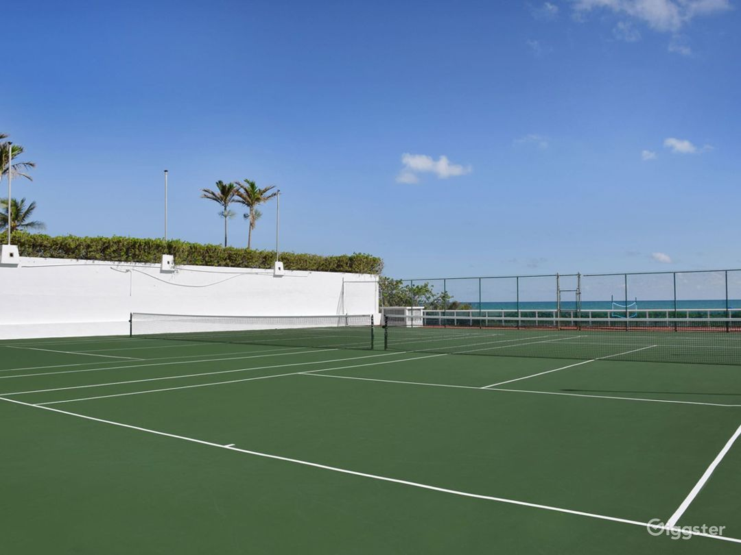 Oceanfront Tennis Court Photo 1