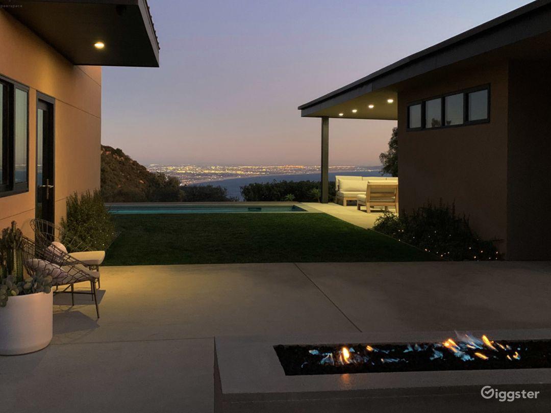 Ocean-view modern outdoor living space.