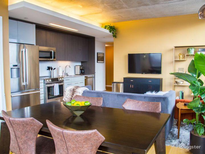 Bright Penthouse 2BR Apartment
