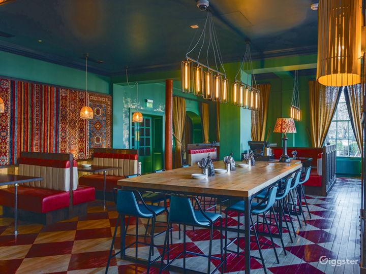 Colorful Restaurant in Edinburgh