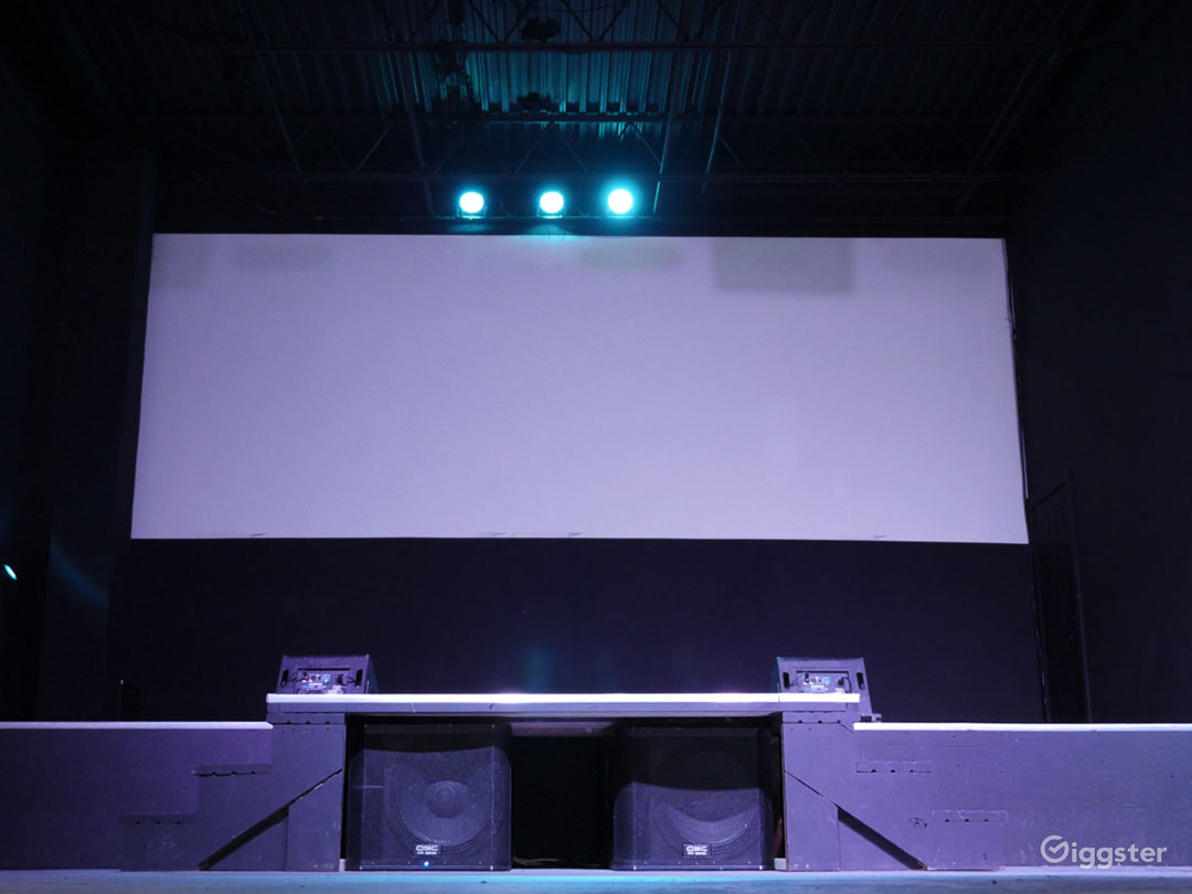 Dual Projector Setup for Extra Wide Screen, included with the rental.