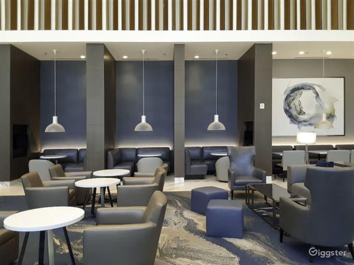 Hotel Lobby Sitting Area with Bar Photo 2