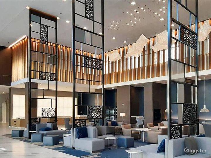 Hotel Lobby Sitting Area with Bar Photo 3