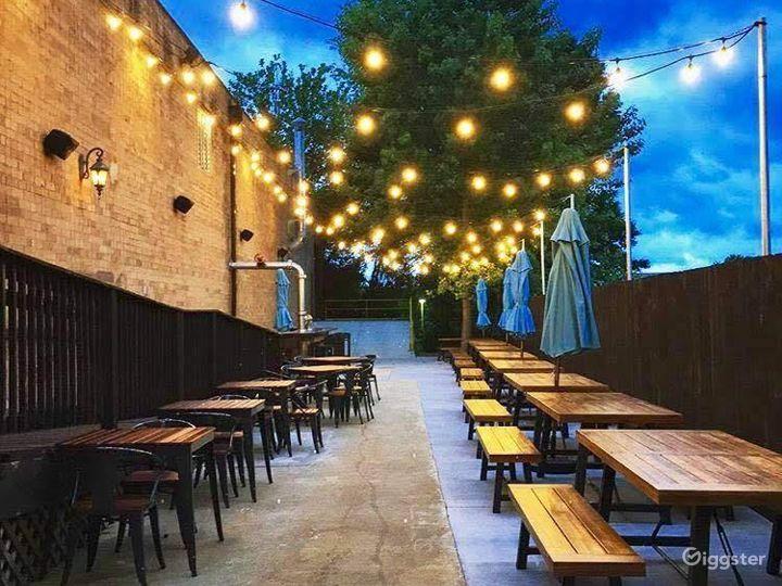 Elegant Brewery Patio in Charlotte