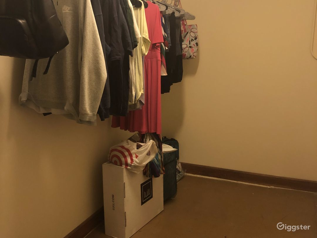 Closet. Huge closet thats large enough to be a bedroom! Great for storing equipment and clothing and has a high ceiling with great lighting