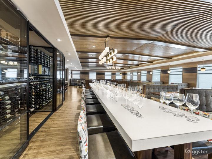 Wine Table and wine display