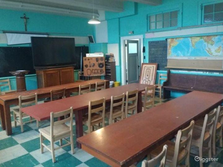 Historic Military School Classroom