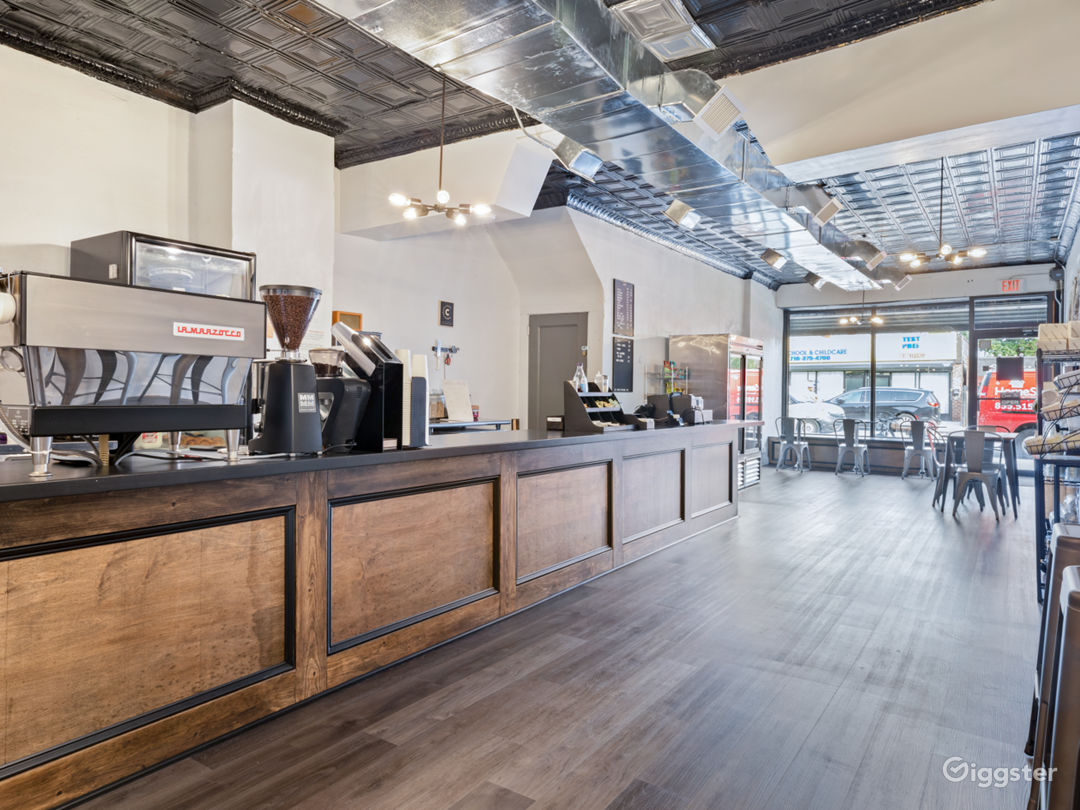 Spacious Industrial-Rustic Coffee Shop Photo 2