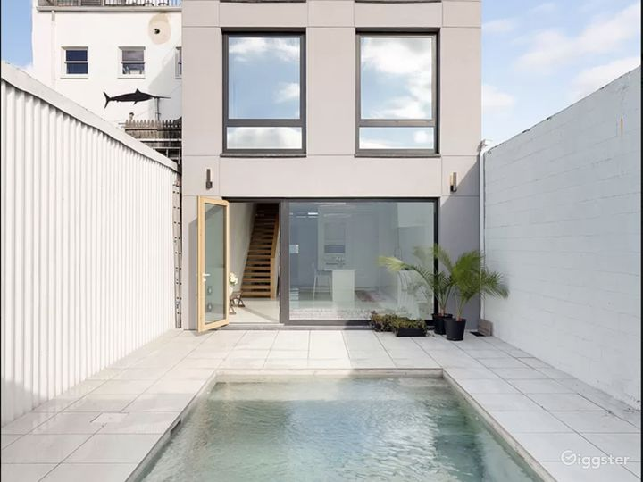 Cement Pool with Sitting Ledge