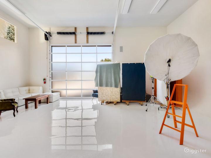 Our all-white studio