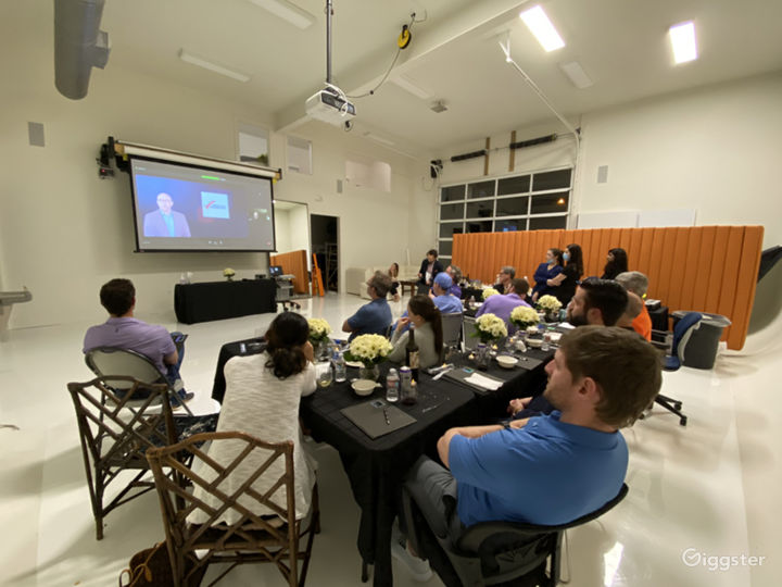 Several businesses use our studio for conferences and presentations. The local symphony even did a virtual performance from here, airing over Facebook live.