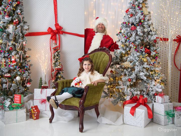 Photos with Santa were the highlight of the Teddy Bear Tea