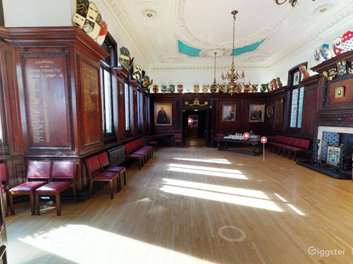 Stock Room at Stationers' Hall - #Wood-paneled room with natural daylight