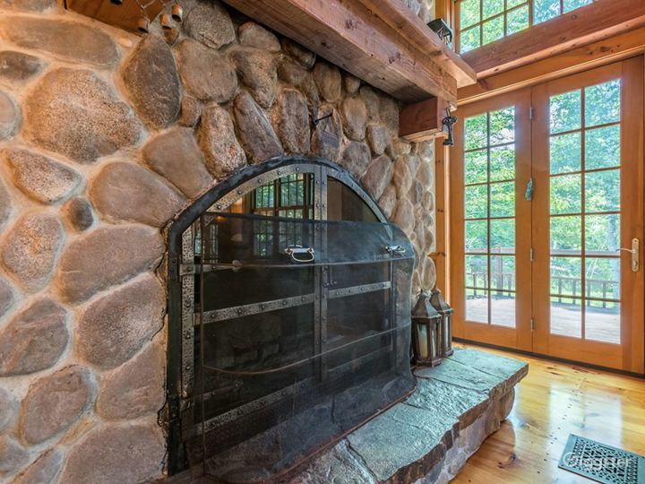 Main fireplace in great room